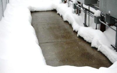 как залить бетон зимой