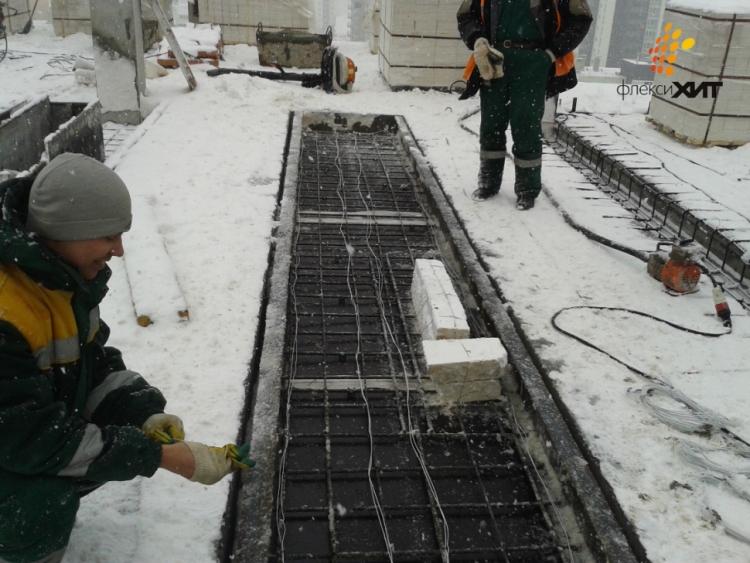 Заливка бетона зимой температура