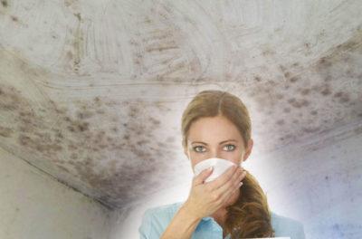 как убрать плесень с потолка
