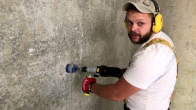 отверстие под розетку в бетоне как сделать