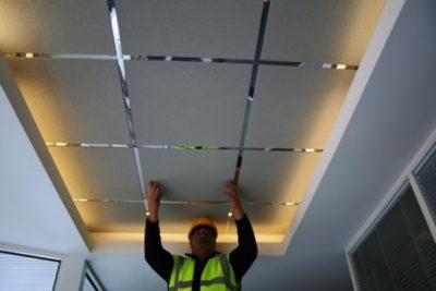 как установить алюминиевый потолок