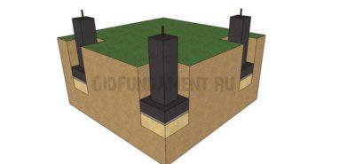 как сделать фундамент из блоков