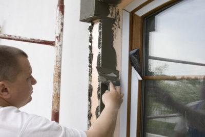 как штукатурить откосы на окнах