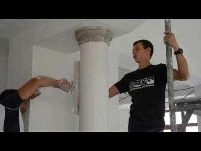 как сделать колонны своими руками