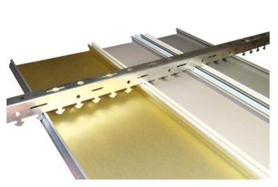 как крепить реечный потолок