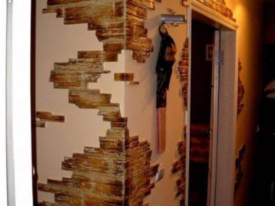 как отделать кирпичную стену