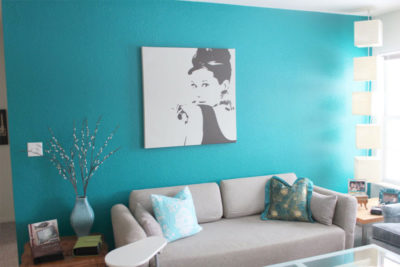 как покрасить стены в разные цвета