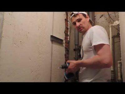 как прикрепить гипсокартон к кирпичной стене