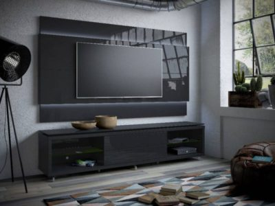 что поставить под телевизор висящий на стене