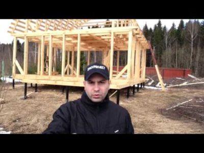 как построить дом на сваях