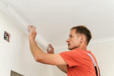 как снять плитку с потолка