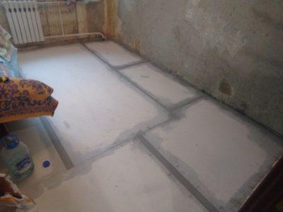 как залить пол в квартире с керамзитом