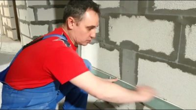 как сделать перегородку из газобетона