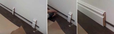 как крепить плинтуса пластиковые в квартире