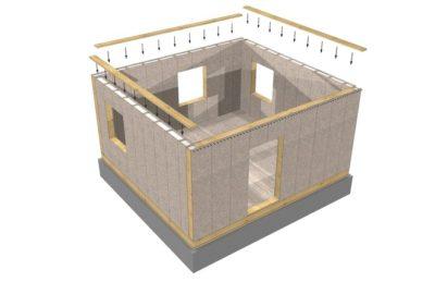 как сделать стены в каркасном доме