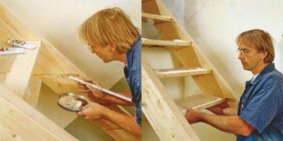 как закрепить ступени на деревянной лестнице