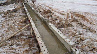 как залить бетон в мороз