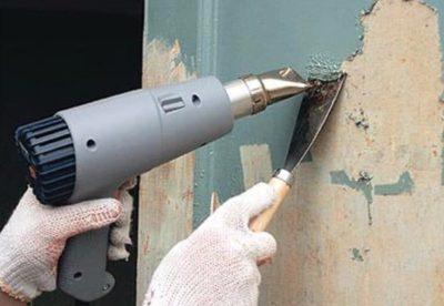 как снять краску с бетонной стены