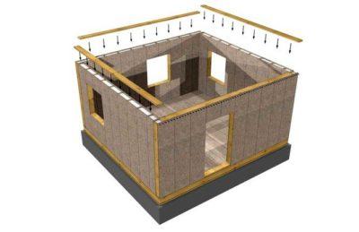 как построить дом из сэндвич панелей