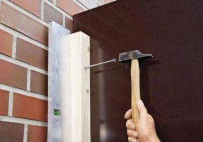 как прикрепить брус к кирпичной стене