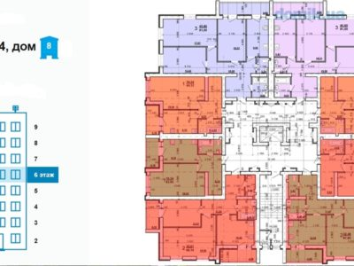сколько метров 10 этажный дом