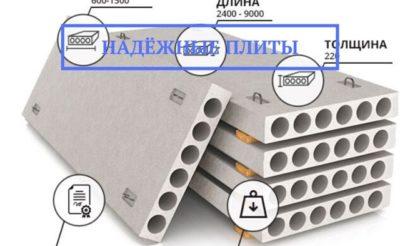сколько весит бетонная плита