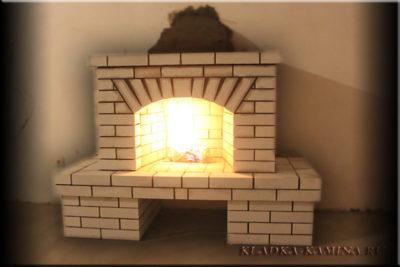 как сделать камин в доме из кирпича