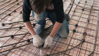 как вязать арматуру для монолитной плиты