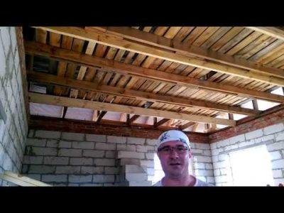 как сделать деревянное перекрытие между этажами