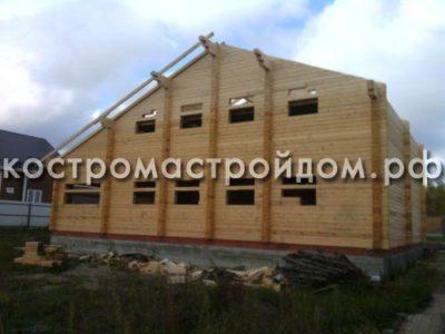 как построить дом из профилированного бруса