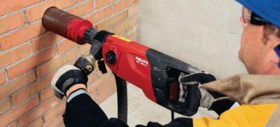 как просверлить бетонную стену шуруповертом