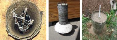 как залить столбы под фундамент