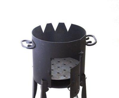 как сделать печь под казан