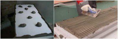 как приклеить пенопласт к бетону