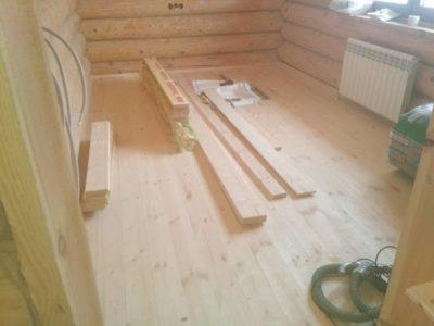 как настелить полы в деревянном доме