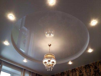 как можно сделать потолок в зале