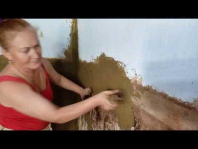 как замазать печь глиной